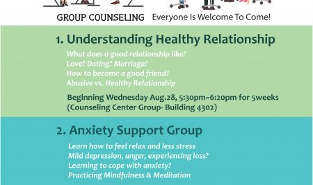 WUV Fall Semester Support Groups